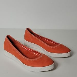 AK Sport Over The Top  Slip-On Flats, Orange